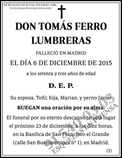 Tomás Ferro Lumbreras